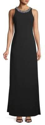 Karl Lagerfeld Embellished Floor-Length Dress