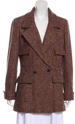 Chanel Wool & Silk Tweed Coat