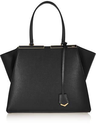 Fendi - 3jours Medium Textured-leather Tote - Black $2,550 thestylecure.com