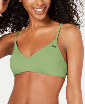 Roxy Juniors' Beach Corset-Back Bikini Top Women Swimsuit