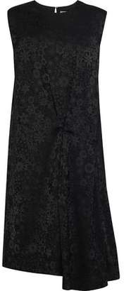 Acne Studios Danya Asymmetric Gathered Floral-Jacquard Dress