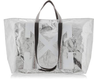 Off-White Off White C/O Virgil Abloh New Commercial Metallic Tote
