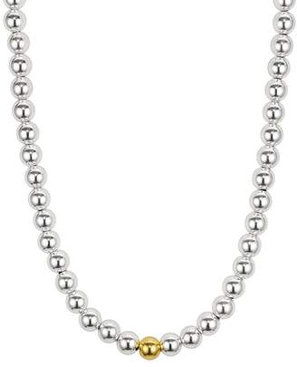 Aqua 8mm Sterling Silver Beaded Necklace - 100% Exclusive