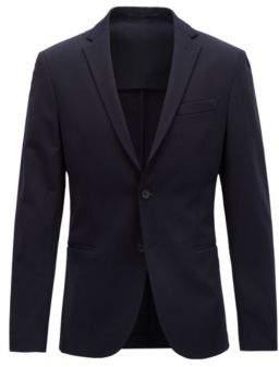 BOSS Hugo Slim-fit blazer in technical fabric stretch lining 38R Open Blue