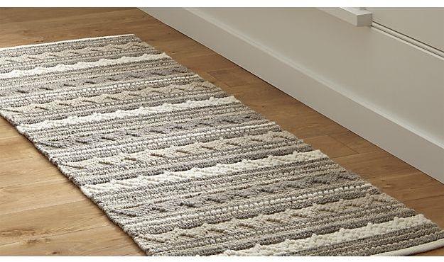 Mallory Neutral Striped Wool 2.5'x7' Rug Runner