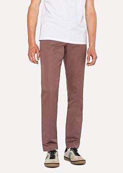 Paul Smith Men's Mid-Fit Mauve Linen-Blend Chinos