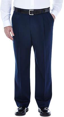 Haggar Premium No Iron Classic-Fit Pleated Khakis - Big & Tall