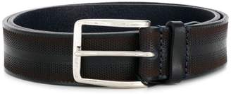Emporio Armani perforated buckle belt