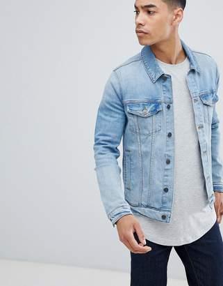 Asos DESIGN skinny denim jacket in light wash