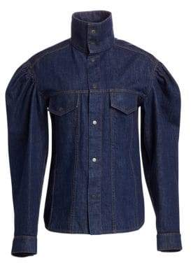 Calvin Klein Puff Sleeve Denim Shirt