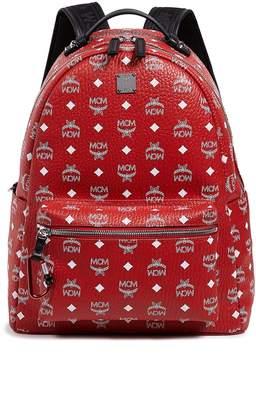 MCM Stark White Logo Visetos Backpack