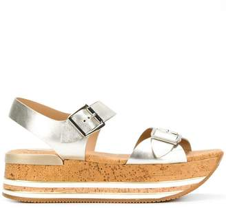 Hogan platform buckle sandals