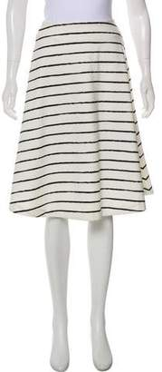 Elizabeth and James Striped Knee-Length Skirt