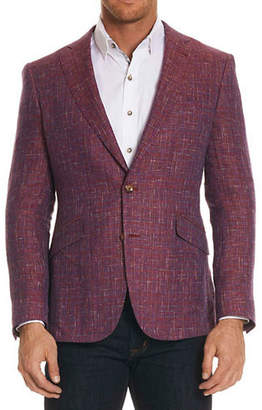 Robert Graham Linen-Blend Multicolour Sportcoat