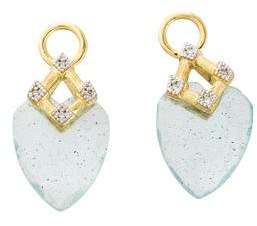 Jude Frances 18K Topaz, Labradorite & Diamond Lisse Earring Charms