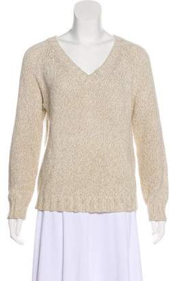Max Mara Weekend Rib-Knit V-Neck Sweater