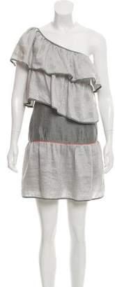 Thread Social One-Shoulder Linen Dress