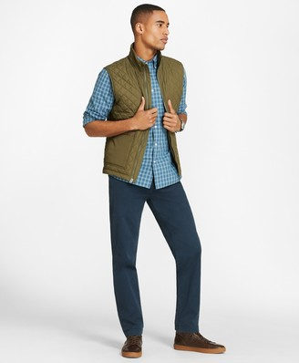 Brooks Brothers Diamond-Quilted Nylon Vest