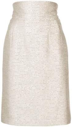 Oscar de la Renta sequined fitted skirt
