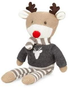 Elegant Baby Reindeer Knit Plush Toy