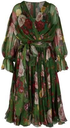 Dolce & Gabbana Floral Baroque silk dress