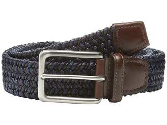 Torino Leather Co. Italian Woven Cotton and Leather Elastic