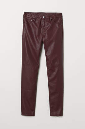 H&M Faux Leather Pants - Red