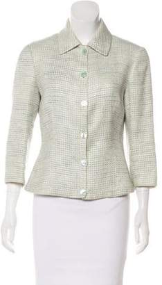 Agnona Linen & Silk Button-Up Jacket
