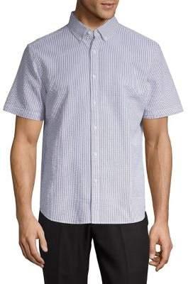 Black & Brown Black Brown Seersucker Striped Dress Shirt