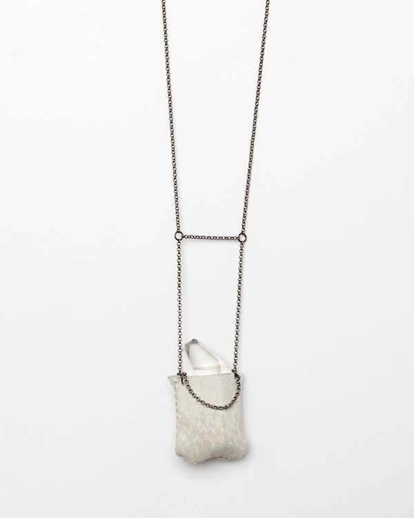 Medium Crystal Pouch Necklace
