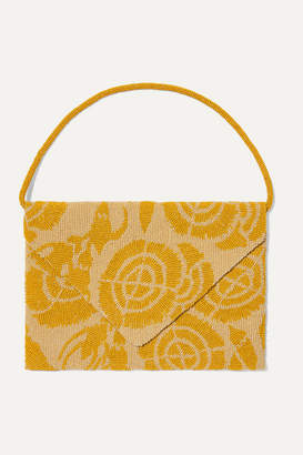 The Row Envelope Beaded Silk-satin Clutch - Yellow