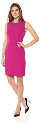 Kasper Women's Jewel Neck Sheath Crepe Dress