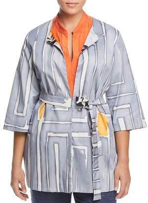 Marina Rinaldi Filosofo Reversible Printed Jacket