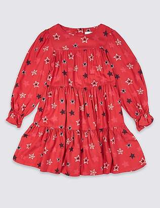 Marks and Spencer Star Print Dress (3-16 Years)