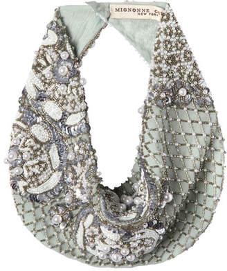 Mignonne Gavigan Le Charlot Beaded Scarf Necklace, Light Blue