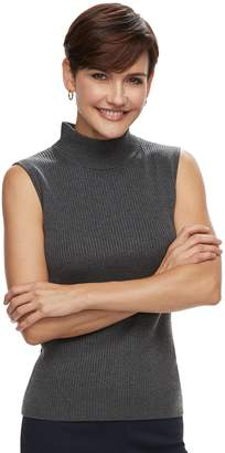 Dana Buchman Women's Mockneck Sleeveless Top