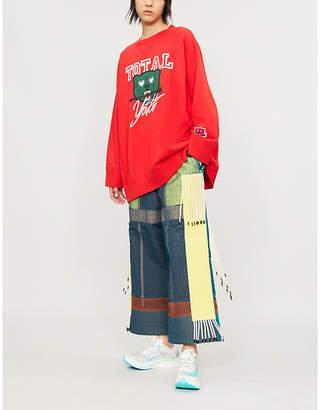 Undercover Motif-print cotton-jersey sweatshirt