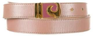 Pierre Cardin Leather Skinny Belt Pink Leather Skinny Belt