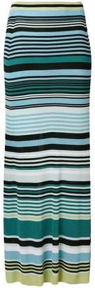 Diesel Black Gold striped maxi skirt