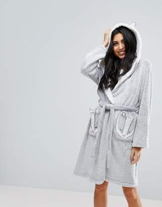 Hunkemoller Badger Fleece Robe