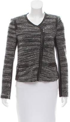 Rebecca Taylor Leather-Trimmed Bouclé Jacket