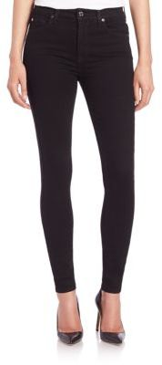 7 For All Mankind The High Waist Skinny Slim Illusion Jeans $179 thestylecure.com