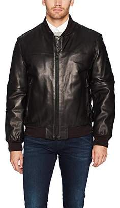 Andrew Marc Men's Summit Lambskin Leather Baseball Jacket
