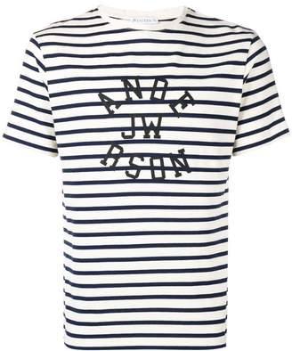 J.W.Anderson logo striped T-shirt