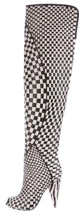 Tom Ford Woven Thigh-High Boots