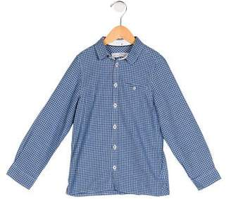 Tartine et Chocolat Boys' Gingham Button-Up Shirt