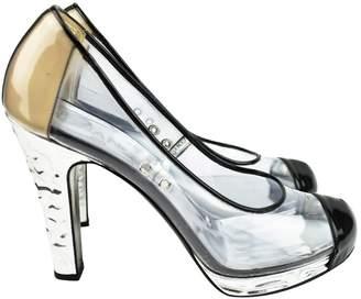 Chanel Silver Plastic Heels