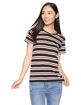 Billabong (ビラボン) - [ビラボン] [レディース] 半袖 ボーダー Tシャツ (クルーネック)[ AI014-301 / SS TEE Shirts ] サーフ かわいい BML_ブラック US S (日本サイズS相当)