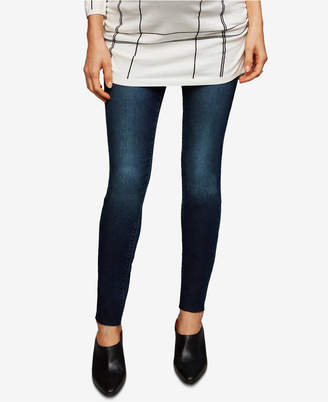 Articles of Society Maternity Dark Wash Skinny Jeans $88 thestylecure.com