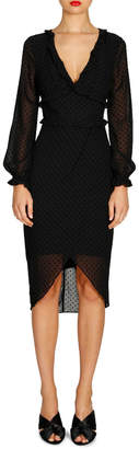Cooper St Harper Long Sleeve Drape Dress